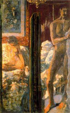 'homme et femme', huile sur toile de Pierre BONNARD (1867-1947)