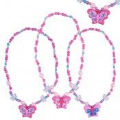 Bright Butterfly Necklace $6.95 https://www.stagezone.com.au/pink-poppy-products.html?limit=18&p=3 #children #kids #fun #jewellery #accessories #dressup #colourful #costume #party #butterfly #flower