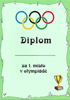 Diplomy, fonty a hry zdarma ke stažení Diy And Crafts, Poster, Calendar, Report Cards, Day Planners, Cards, Olympic Games, Posters, Billboard