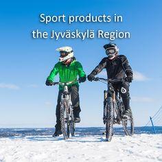 Sport products in the Jyväskylä Region, Finland.