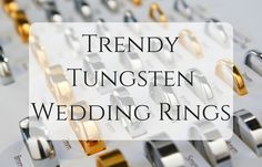 Why Tungsten?   - It is like the worlds strongest man, but in metals.   - Only diamonds can scratch scratch, and even that is rare.   - It is durable and will literally last forever.  - It gives an amazing wedding ring shape and looks super smart!  We have a fabulous selection of tungsten wedding rings for you and it has everything from sets, to mens and even womens. You will be pleasantly surprised.