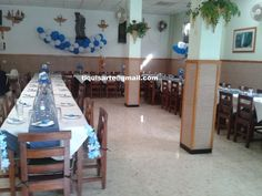 TiquisArte: Primera comunión Conference Room, Table, Furniture, Home Decor, Blue And White, First Holy Communion, Decoration Home, Room Decor, Tables
