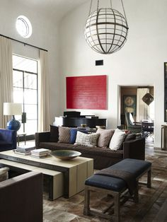 Use a comfy couch in a formal room.