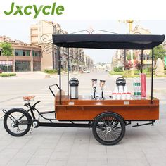 Electric Mobile Food Carts / Coffee Bicycle for sale photo, detailed about Electric M .Electric mobile food carts / coffee bike for sale photo, detailed about electric mobile food carts / coffee bike for sale Food Carts For Sale, Food Truck For Sale, Mobile Coffee Cart, Mobile Food Cart, Mobile Bar, Food Box, Food Cart Business, Portland Food Carts, Food Cart Design