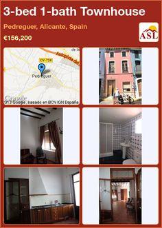 3-bed 1-bath Townhouse in Pedreguer, Alicante, Spain ►€156,200 #PropertyForSaleInSpain