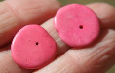 20 Dyed man made turquoise flat disks coral by debsdesigns401