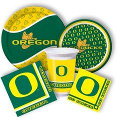 Oregon Ducks party supplies. Football season is always just around the corner.