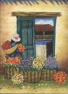 Peruvian Art, Spanish Art, Chicano Art, Southwest Art, Mexican Art, Art Girl, Folk Art, Art Projects, Canvas Art