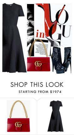"""""""Untitled #3773"""" by julinka111 ❤ liked on Polyvore featuring Gucci and Valentino"""