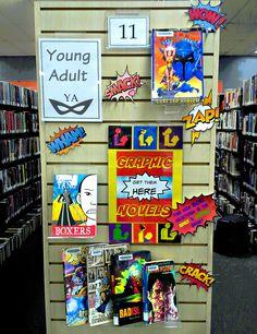 Fun YA library displ