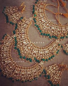 Our most loved and most picked bridal necklace☺️ Ready to be dispatched to brides in Canada, Pakistan and NewZealand ❤️❤️ .. Confused about your bridal look? Come to us for bridal consultation, be it jewelry, or your complete trousseau , We will be glad to assist you :)