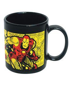 Love this Black & Yellow Iron Man Coffee Mug on #zulily! #zulilyfinds