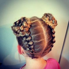 Talking about little girls' fashion, we will deal with outfits, footwear, and also hairdo. The hairdo is an important part since it also supports your Baby Girl Hairstyles, Dance Hairstyles, Princess Hairstyles, Pretty Hairstyles, Easy Hairstyles, Hairstyles For Gymnastics, Braided Hairstyles For Kids, Girl Hair Dos, Hair Girls