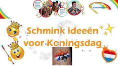 Schmink ideeën voor Koningsdag door Schminkkoppies.