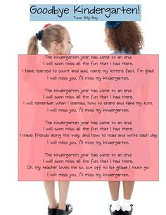 Kindergarten graduation poem or song lyrics kindergarten kindergarten graduation or end of the year program songs free posters stopboris Gallery