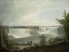 """""""Niagara Falls,"""" Alvan Fisher, 1823, oil on canvas, 23 1/8 x 29 7/8"""", Wadsworth Atheneum Collection."""