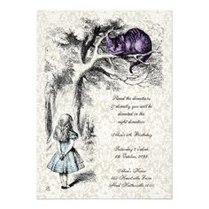Elegant vintage Alice in Wonderland neutral Baby Shower tea party invites in shades of blue and pink - perfect for both boys and girls. Description from zazzle.co.uk. I searched for this on bing.com/images