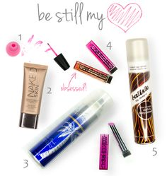 My latest favorite beauty products!