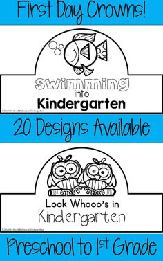 A unique collection of crowns that your kindergartners can wear on their first day of school. They'll be engaged from the start as they color and/or decorate a crown of their own! Choose one design for the entire class or copy several designs and let students choose their favorite. Also available for preschool and first grade!