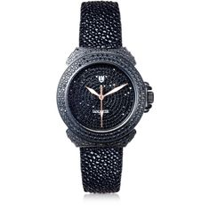 Lancaster Pillola Deco' Black Women's Watch w/Diamonds ($6,375) ❤ liked on Polyvore featuring jewelry, watches, accessories, quartz movement watches, diamond watches, art deco diamond jewelry, art deco-inspired jewelry and deco jewelry