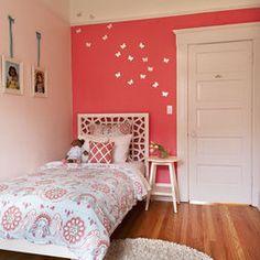 Modern Kids Design- coral girls room