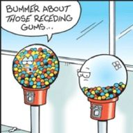 We like to think the gumball machine is always half full.