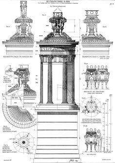The Lysicrates Monument (DAS LYSIKRATES-DENKMAL). Von Architekt Josef Dell…