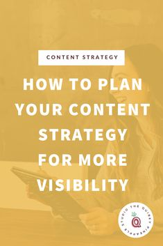 Plan a content strategy for visibility to create brand loyalty, increase lead generation, and get your content noticed and SEEN by all the right people. Creative Business, Business Tips, Online Business, Content Marketing Strategy, Social Media Marketing, Online Marketing, Marketing Program, Internet Marketing, Affiliate Marketing
