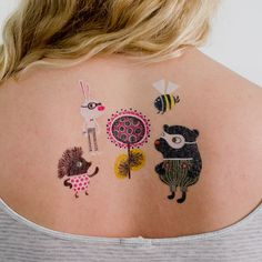 I don't think it is a real tattoo, but it would be a cute one :o)