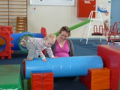 Once crawling skills have been established, it is a challenge to crawl UP or DOWN an incline.