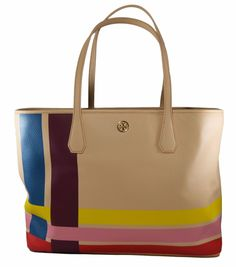 NWT Tory Burch Blake Tote New Auth Multi Variegated stripe Leather Bag 1Sz $450 | Clothing, Shoes & Accessories, Women's Handbags & Bags, Handbags & Purses | eBay!