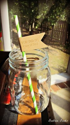 Straw Idea for Grad Party, just need 2013
