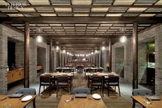 cool and moody restaurant. Capo, Shanghai by Neri & Hu Design and Research Office.