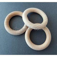 Aro de madera 55 mm diámetro natural sin lacar (1 unidad)