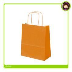 #Bolsas naranjas de #papel ecológico. Podemos imprimir vuestro logotipo o diseño en serigrafía de alta calidad, te aseguramos una impresión con un resultado excelente.
