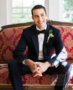 Grooms look // Christian Oth Studios // http://blog.theknot.com/2014/01/06/a-classic-maine-wedding-plus-marriage-advice-from-kindergarteners/