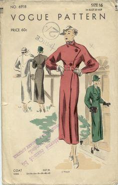 Vogue 6918 | 1930s Coat