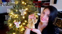 Vero Vi  ANGELITOS DE TELA QUE PARECEN DE PAPEL?  Christmas 2019, Christmas Crafts, Christmas Decorations, Xmas, Holiday Decor, Felt Christmas Ornaments, Christmas Tree, Diy Adornos, Navidad Diy