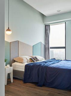 Játékos és színes lakás egy modern családnak, #apartman #gyerek #gyerekszoba #háló #hálószoba #kék #konyha #lakás #modern #nappali #panoráma #színes #szoba #szürke #vidám #LEGO #fiatalos #HAO #Taiwan #lendületet #lendületes, https://www.otthon24.hu/jatekso-szines-lakas/