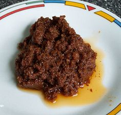 Bagoong - a Philippine condiment made of partially or completely fermented fish or shrimp and salt.