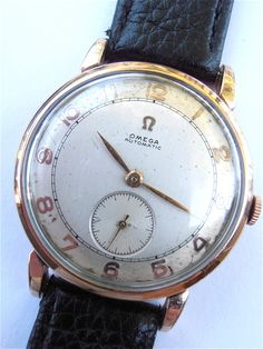 Elegant, sophisticated Vintage 50s #Omega Mens Watch Automatic Bumper Movement at #VillaCollezione........This is no ordinary watch.