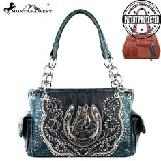 NWT Montana West Horse Coll. Concealed Weapon Handbag Purse ***FREE SHIPPING*** #MontanaWest #ConcealedCarry #Purse #Horseshoe #horse #Rhinestone #Bling #ShoulderBag