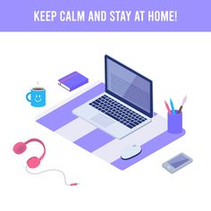 Nothing to add... just stay at home and care youself! #stayathome #illustration #homeoffice #vectorillustration #vector