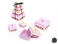 """Le Fraisier"" Minis Boîtes Origami Gigognes (free printable) - Sanglota.com"