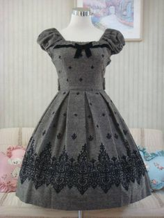Mary Magdalene - Tweed ribbon dress