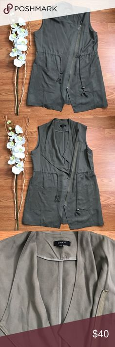 NWOT DREW Utility Vest Small This piece is gorgeous. Photos don't do it justice. NWOT Perfect Condition vest by DREW NYC. Size Small. Lightweight & so soft! Olive / Sage color. DREW Tops