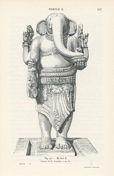 Line drawing of Ganesha, My son temple group E, showing the arms complete with… Ganesha Art, Sri Ganesh, Ganesha Painting, Lord Ganesha, Indian Gods, Indian Art, Line Drawing, Painting & Drawing, Om Gam Ganapataye Namaha