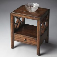 Side Table - Mountain Lodge - 4166120. Side Table - Mountain Lodge - 4166120 The heavily distressed finish ironically gives this eye-catching Side Table immense vitality. And its clean lines and geometric lattice-work sides add to its versatility. Its equally at .. . See More Side Tables at http://www.ourgreatshop.com/Side-Tables-C689.aspx