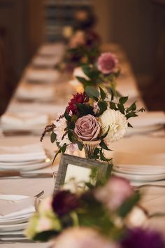 100 Must See Hottest Mauve Wedding Decorations for Your Upcoming Day---centerpiece with mauve rose and white dahlias for fall wedding Mauve Wedding, Fall Wedding Flowers, Wedding Centerpieces, Wedding Table, Wedding Colors, Wedding Decorations, Fall Flowers, Wedding Reception, Table Decorations