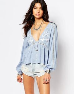 Somedays | Somedays Lovin Festival Blouse with Embroidery at ASOS